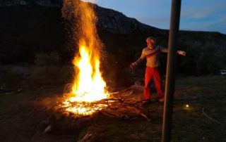 Physicality after cancer - making fires