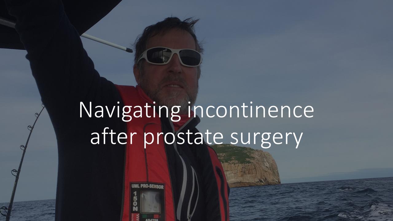 Navigating bladder incontinence after prostatectomy